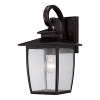 Quoizel Bradley 1 Light Outdoor Wall in Palladian Bronze BRY8408PN