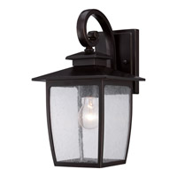 Quoizel Bradley 1 Light Outdoor Wall Lantern in Palladian Bronze BRY8408PNFL