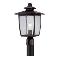 Quoizel Bradley 1 Light Outdoor Post Lantern in Palladian Bronze BRY9009PNFL