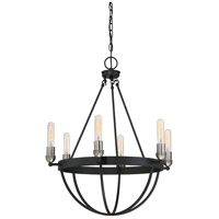 Quoizel BSN5006EK Basin 6 Light 25 inch Earth Black Chandelier Ceiling Light