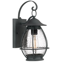 Boston 1 Light 14 inch Mottled Black Outdoor Wall Lantern