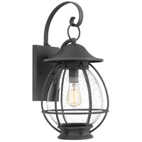 Boston 1 Light 22 inch Mottled Black Outdoor Wall Lantern