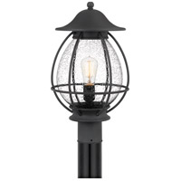 Quoizel BST9011MB Boston 1 Light 19 inch Mottled Black Outdoor Post Lantern