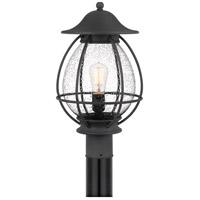 Quoizel BST9011MB Boston 1 Light 19 inch Mottled Black Outdoor Post Lantern