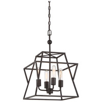 Quoizel BWK5204WT Berwick 4 Light 14 inch Western Bronze Foyer Piece Ceiling Light