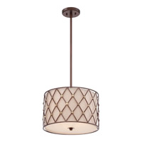 Quoizel Brown Lattice 3 Light Pendant in Copper Canyon BWL2816CC