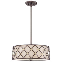 Brown Lattice 3 Light 17 inch Copper Canyon Pendant Ceiling Light