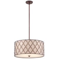 Brown Lattice 4 Light 22 inch Copper Canyon Pendant Ceiling Light