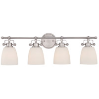 Bower 4 Light 29 inch Brushed Nickel Bath Light Wall Light