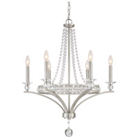 Brightwaters 6 Light 26 inch Brushed Nickel Chandelier Ceiling Light, 6 Arms
