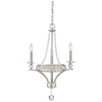 Quoizel Brightwaters 3 Light Mini Chandelier in Brushed Nickel BWS5303BN