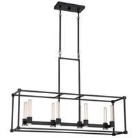 Bayridge 8 Light 40 inch Earth Black Island Chandelier Ceiling Light