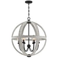 Quoizel CAL2828GK Carlisle 6 Light 28 inch Grey Ash Foyer Pendant Ceiling Light