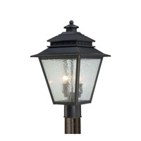 Quoizel Lighting Carson 2 Light Outdoor Post Lantern in Weathered Bronze CAN9011WB