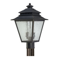Quoizel Lighting Carson 2 Light Outdoor Post Lantern in Weathered Bronze CAN9011WB alternative photo thumbnail