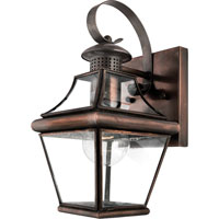 Quoizel Lighting Carleton 1 Light Outdoor Wall Lantern in Aged Copper CAR8406AC