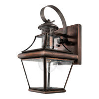 Quoizel Carleton 1 Light Outdoor Wall Lantern in Aged Copper CAR8406ACFL