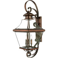 Quoizel Lighting Carleton 4 Light Outdoor Wall Lantern in Aged Copper CAR8414AC