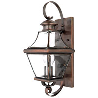 Quoizel Lighting Carleton 1 Light Outdoor Wall Lantern in Aged Copper CAR8728AC