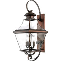 Quoizel Lighting Carleton 4 Light Outdoor Wall Lantern in Aged Copper CAR8730AC