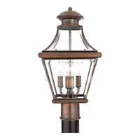 Quoizel Lighting Carleton 4 Light Outdoor Post Lantern in Aged Copper CAR9011AC alternative photo thumbnail