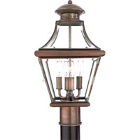 Quoizel Lighting Carleton 4 Light Outdoor Post Lantern in Aged Copper CAR9011AC