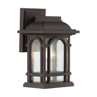 Quoizel Cathedral 1 Light Wall Lantern in Palladian Bronze CAT8407PN