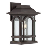 Quoizel Cathedral 1 Light Wall Lantern in Palladian Bronze CAT8409PN