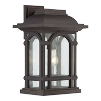 Quoizel Cathedral 1 Light Wall Lantern in Palladian Bronze CAT8411PN
