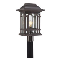 Cathedral 1 Light 19 inch Palladian Bronze Post Lantern