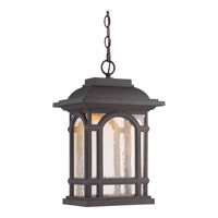 Cathedral LED 12 inch Palladian Bronze Hanging Lantern Ceiling Light