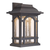 Cathedral LED 12 inch Palladian Bronze Wall Lantern Wall Light