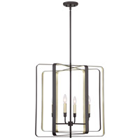Quoizel CCE5204WT Cycle 4 Light 24 inch Western Bronze Foyer Chandelier Ceiling Light