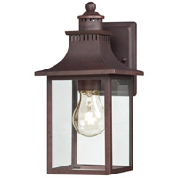 Quoizel Lighting Chancellor 1 Light Outdoor Wall Lantern in Copper Bronze CCR8406CU