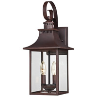 Quoizel Lighting Chancellor 2 Light Outdoor Wall Lantern in Copper Bronze CCR8408CU