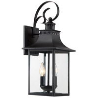 Quoizel CCR8408K Chancellor 2 Light 19 inch Mystic Black Outdoor Wall Lantern