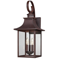 Quoizel Lighting Chancellor 3 Light Outdoor Wall Lantern in Copper Bronze CCR8410CU