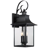 Chancellor 3 Light 24 inch Mystic Black Outdoor Wall Lantern