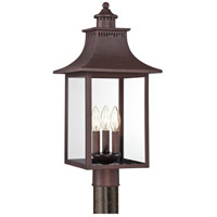 Quoizel Lighting Chancellor 3 Light Post Lantern in Copper Bronze CCR9010CU