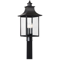Quoizel CCR9010K Chancellor 3 Light 22 inch Mystic Black Outdoor Post Lantern