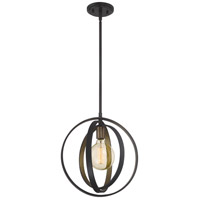 Circuit 1 Light 14 inch Western Bronze Pendant Ceiling Light