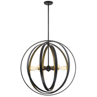 Circuit 6 Light 30 inch Western Bronze Foyer Pendant Ceiling Light