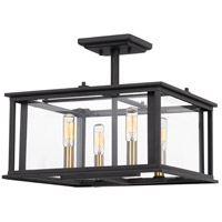 Citadel 4 Light 14 inch Earth Black Semi-Flush Mount Ceiling Light
