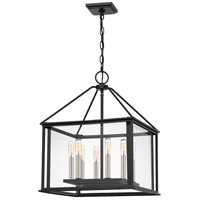 Quoizel CDL2817EK Citadel 8 Light 17 inch Earth Black Pendant Ceiling Light