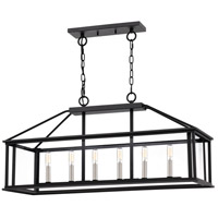 Citadel 6 Light 36 inch Earth Black Island Chandelier Ceiling Light