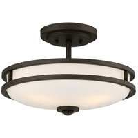 Cadet 3 Light 15 inch Old Bronze Semi-Flush Mount Ceiling Light
