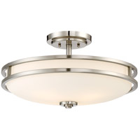 Cadet 4 Light 19 inch Brushed Nickel Semi-Flush Mount Ceiling Light