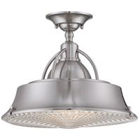 Quoizel Lighting Cody 2 Light Semi-Flush Mount in Brushed Nickel CDY1714BN