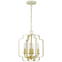 Quoizel CEN5204LCR Centennial 4 Light 13 inch Light Cream Foyer Piece Ceiling Light, Extra Large