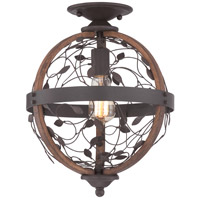 Chamber 1 Light 12 inch Darkest Bronze Flush Mount Ceiling Light